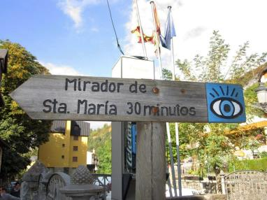 Mirador de Santa Maria linea pirineos